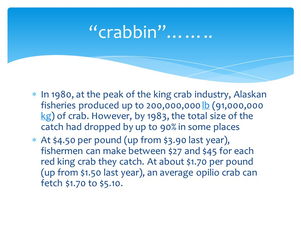 crabbin ……..