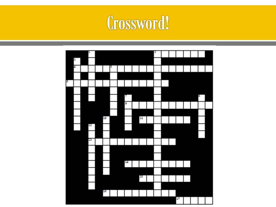 Crossword!