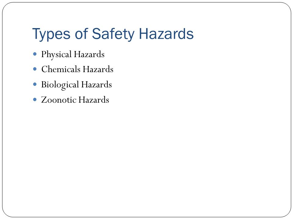 Types of Safety Hazards