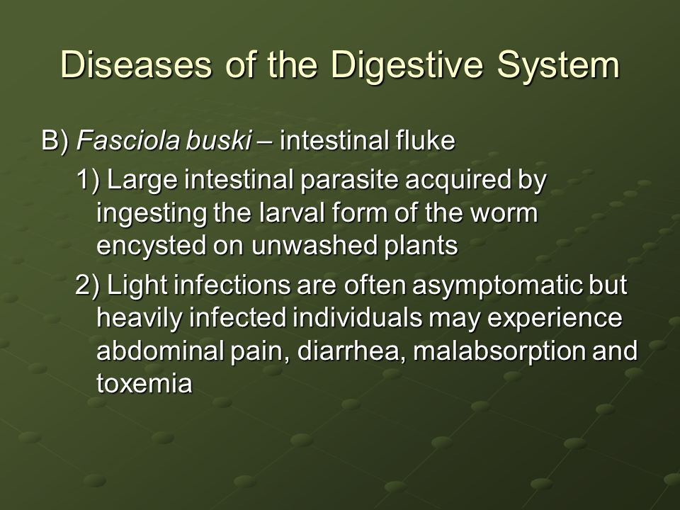Diseases of the Digestive System