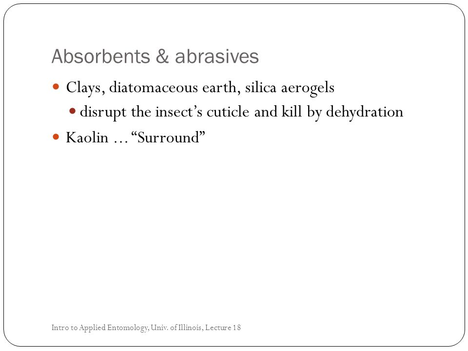Absorbents & abrasives