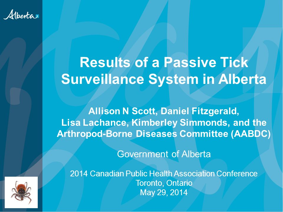 Results of a Passive Tick Surveillance System in Alberta