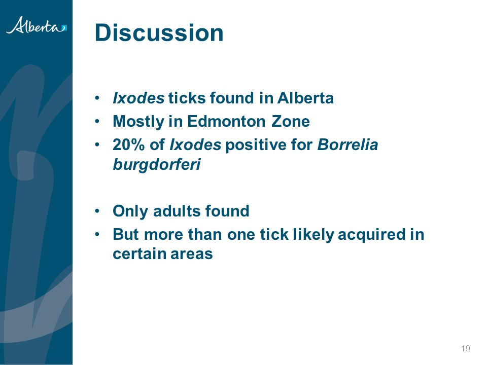 Discussion Ixodes ticks found in Alberta Mostly in Edmonton Zone