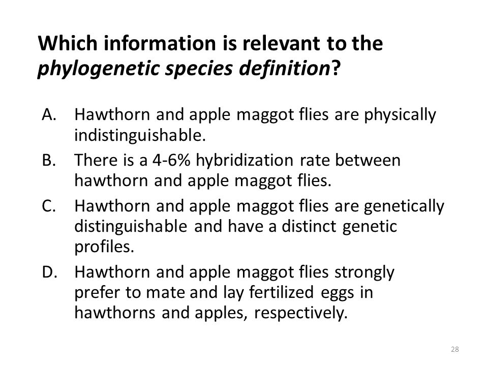 Which information is relevant to the phylogenetic species definition