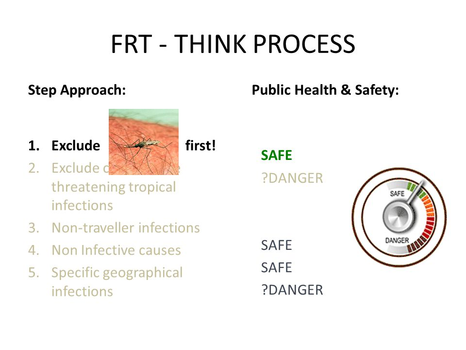 FRT - THINK PROCESS Step Approach: Public Health & Safety: