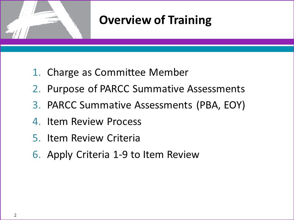 Overview of Training Charge as Committee Member