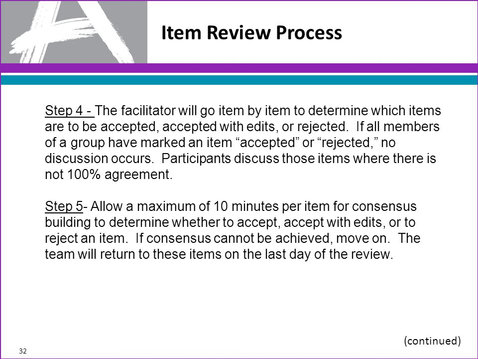 Item Review Process