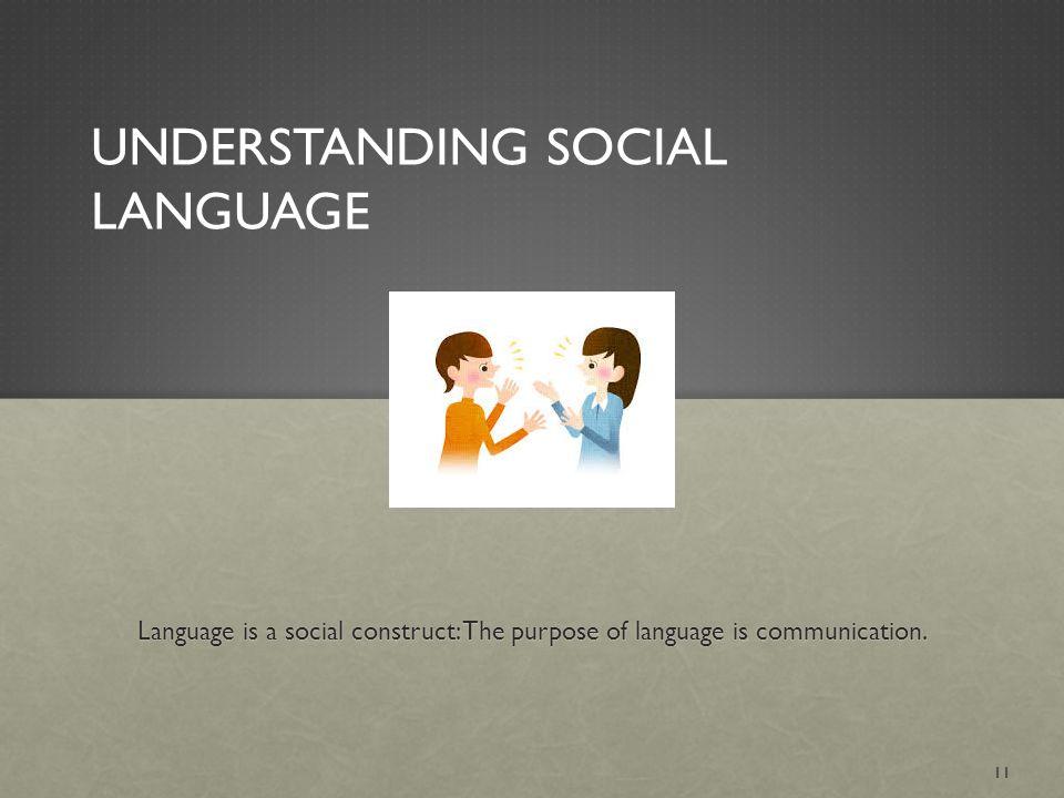Understanding Social Language