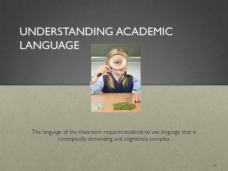 Understanding Academic Language