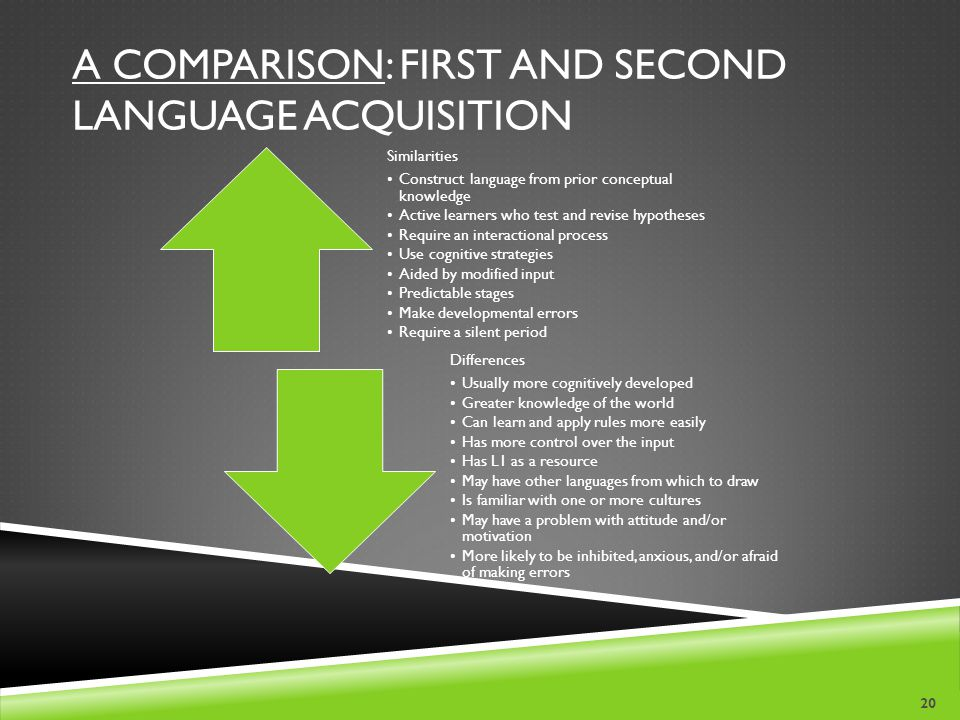A Comparison: First and Second Language Acquisition