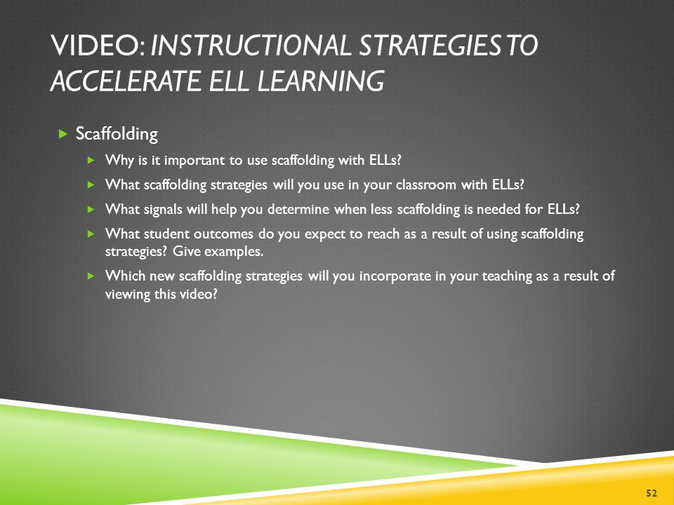 VIDEO: Instructional Strategies to Accelerate ELL Learning