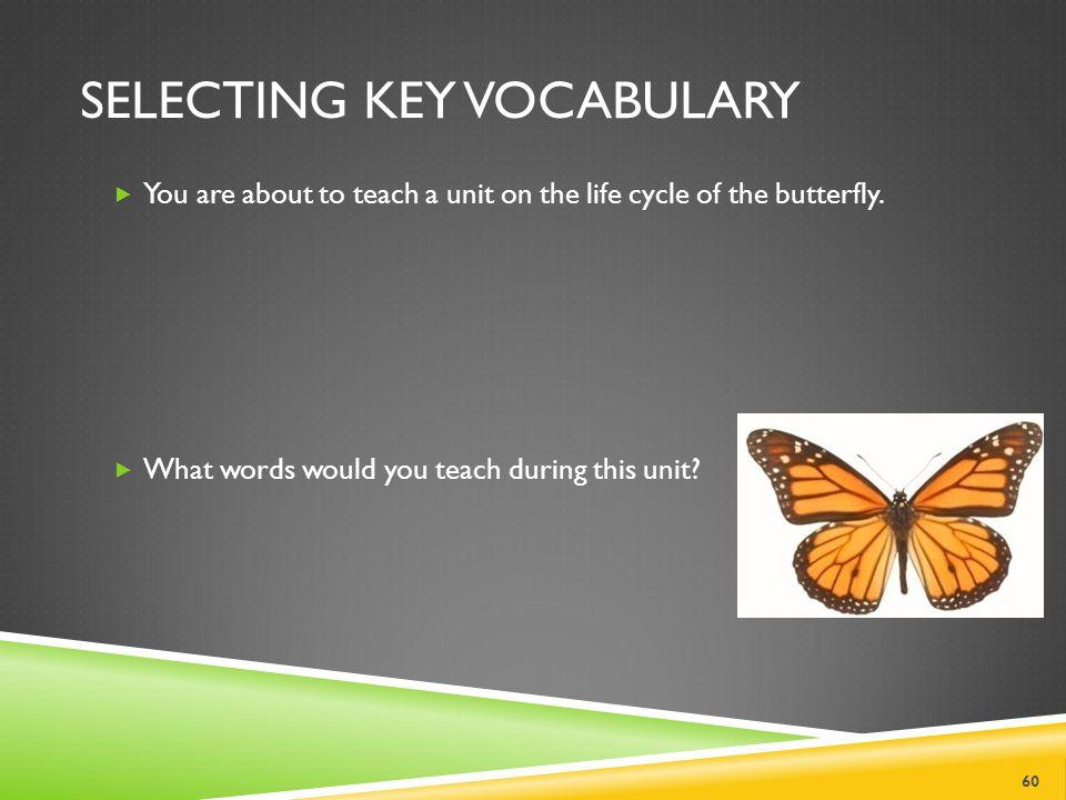 Selecting Key Vocabulary