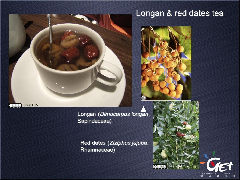 Longan & red dates tea Longan (Dimocarpus longan, Sapindaceae)