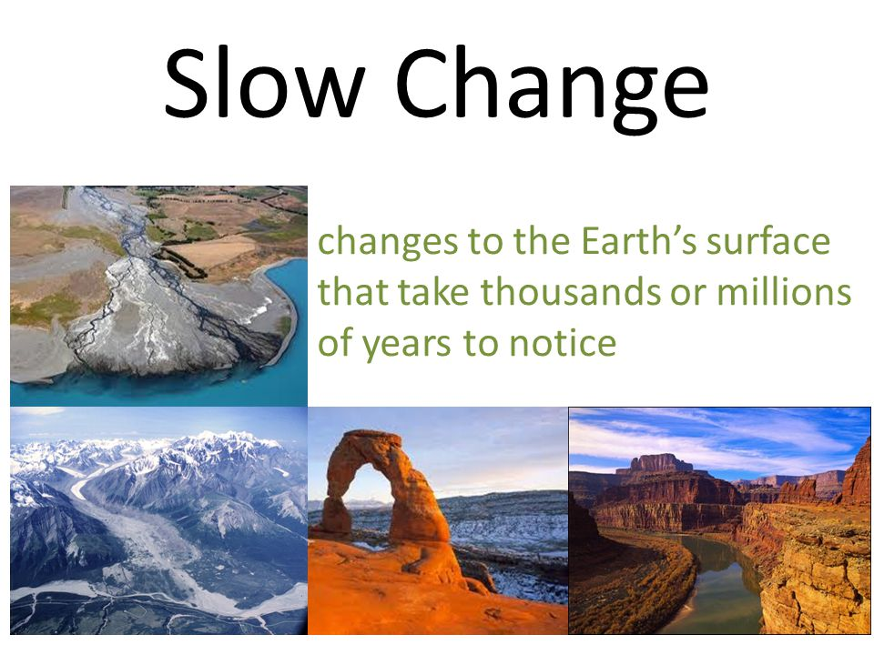 Slow Change changes to the Earth's surface