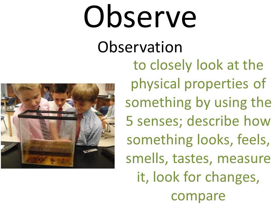 Observe Observation