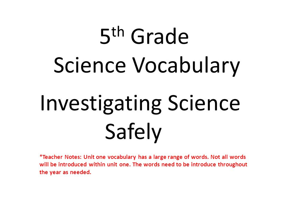 Investigating Science Safely