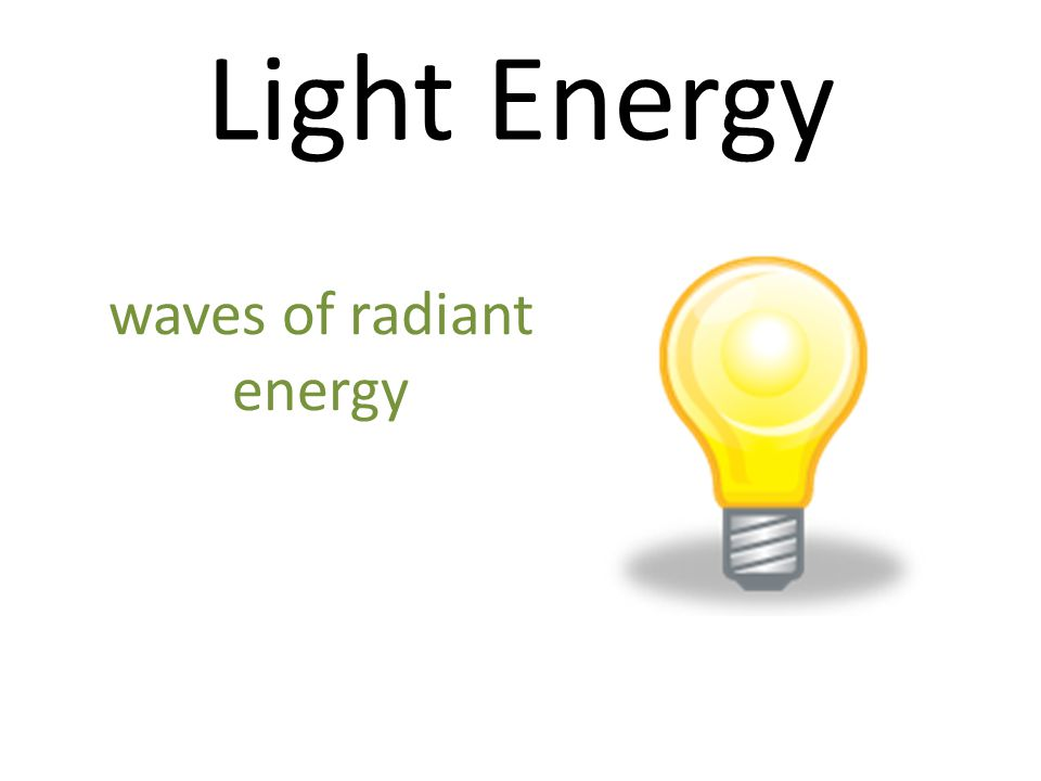 waves of radiant energy
