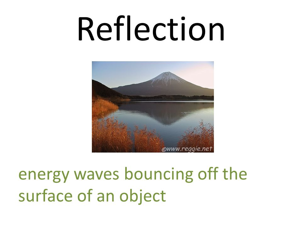 Reflection energy waves bouncing off the surface of an object