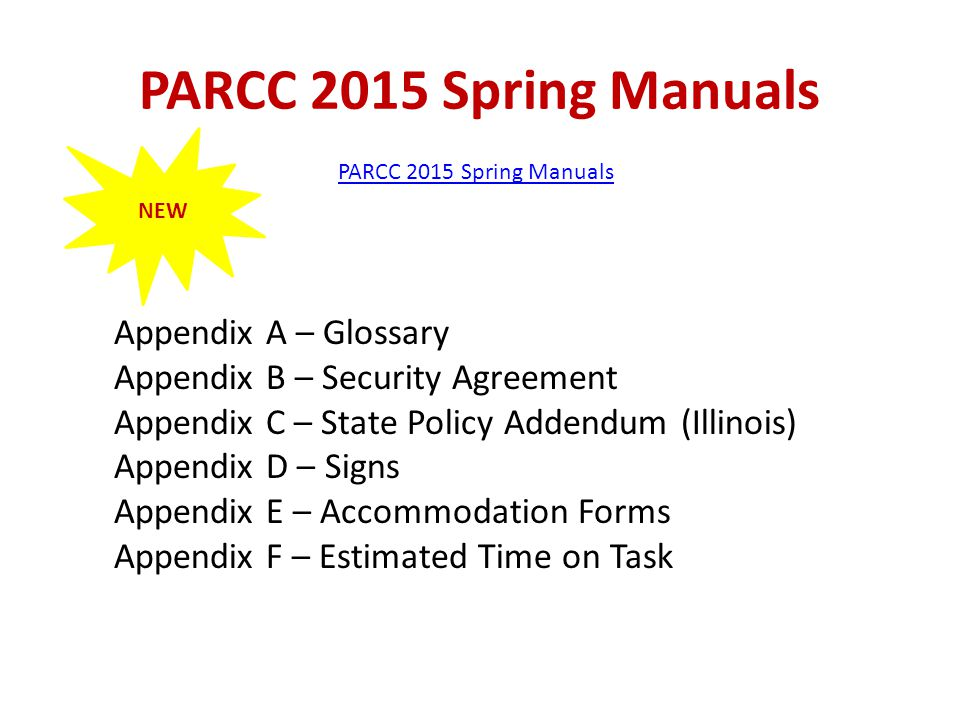 PARCC 2015 Spring Manuals Appendix A – Glossary