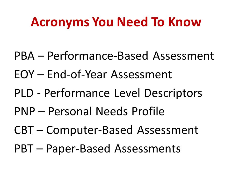Acronyms You Need To Know