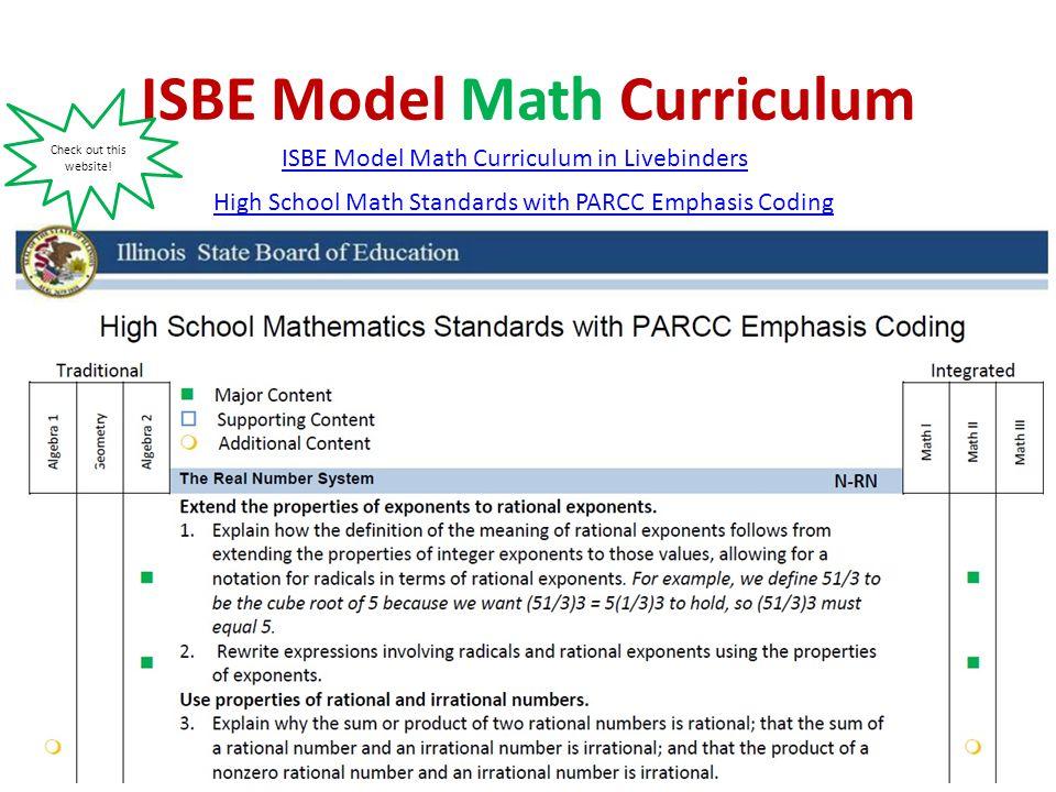 ISBE Model Math Curriculum