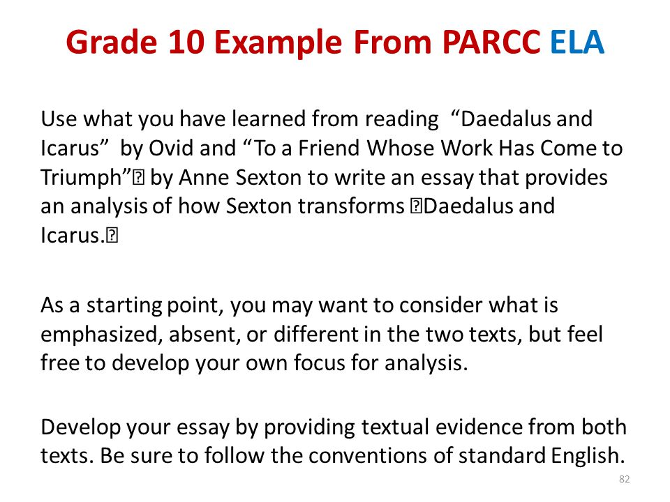 Grade 10 Example From PARCC ELA