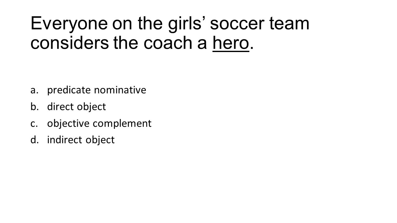 Everyone on the girls' soccer team considers the coach a hero.