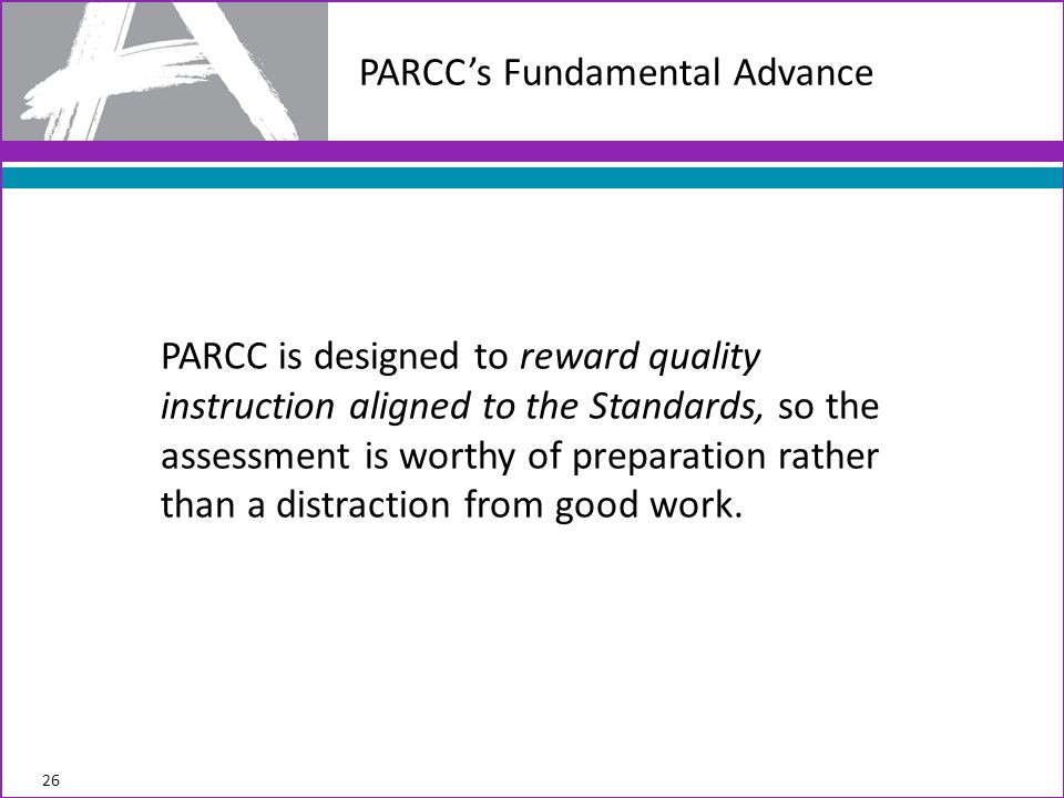 PARCC's Fundamental Advance