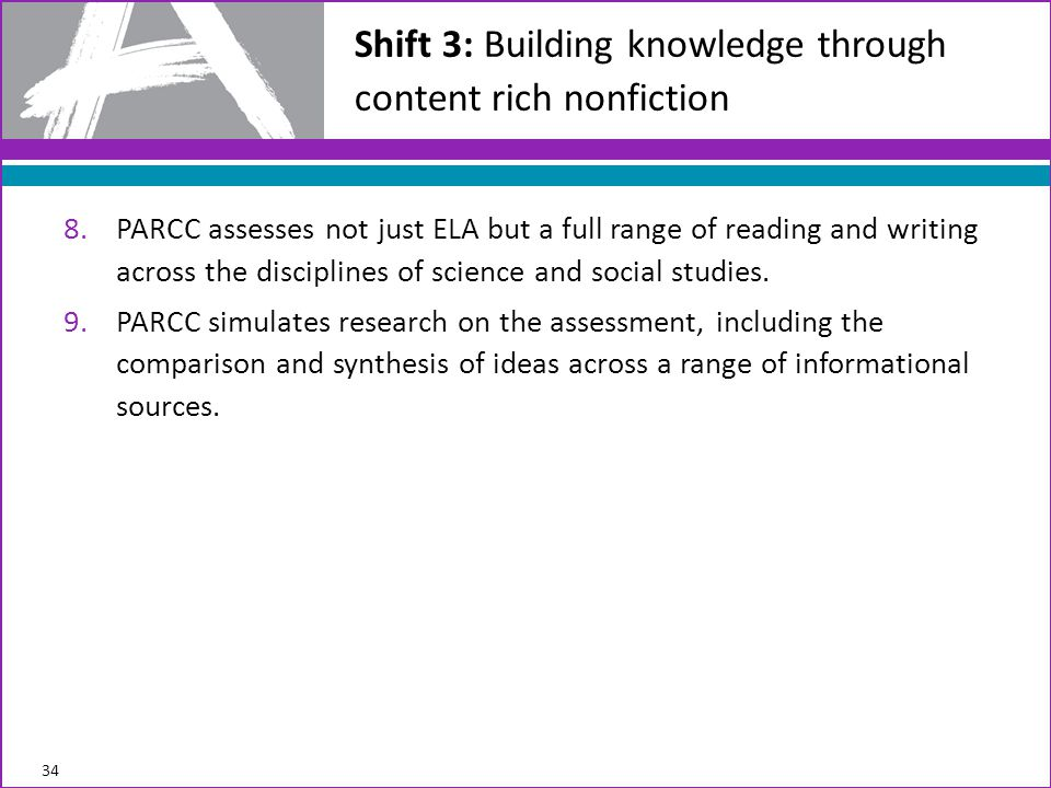 Shift 3: Building knowledge through content rich nonfiction