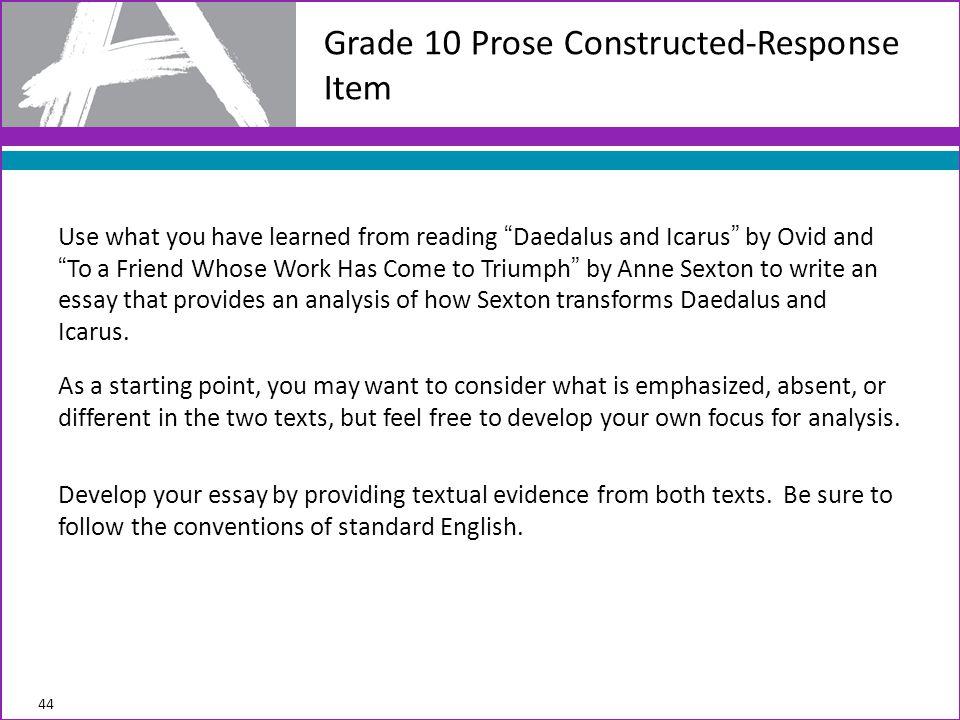Grade 10 Prose Constructed-Response Item