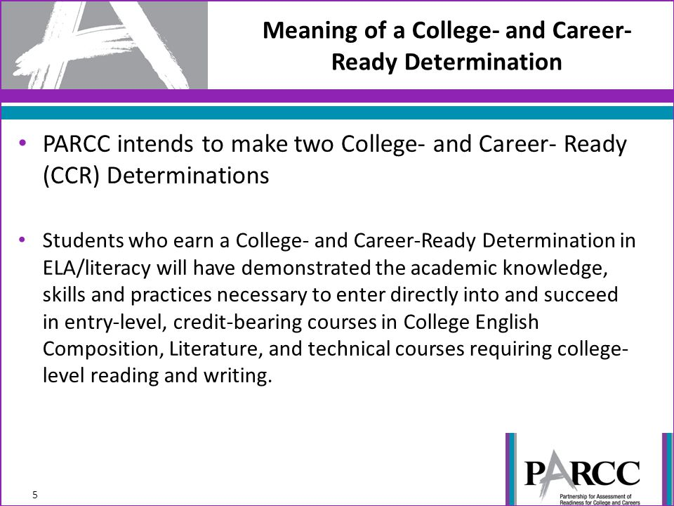 Meaning of a College- and Career- Ready Determination