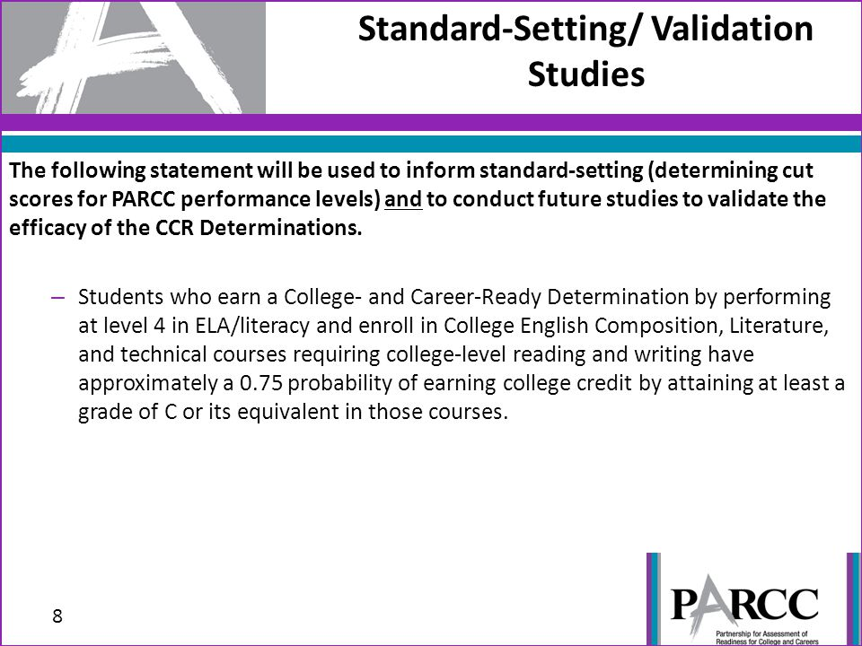 Standard-Setting/ Validation Studies