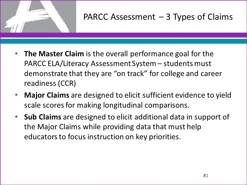 PARCC Assessment – 3 Types of Claims