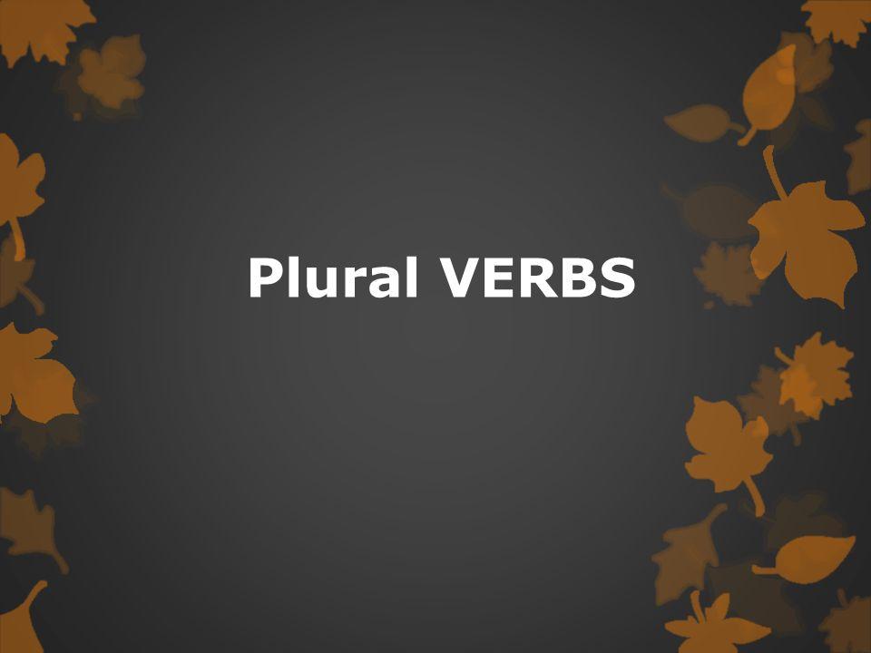 Plural VERBS