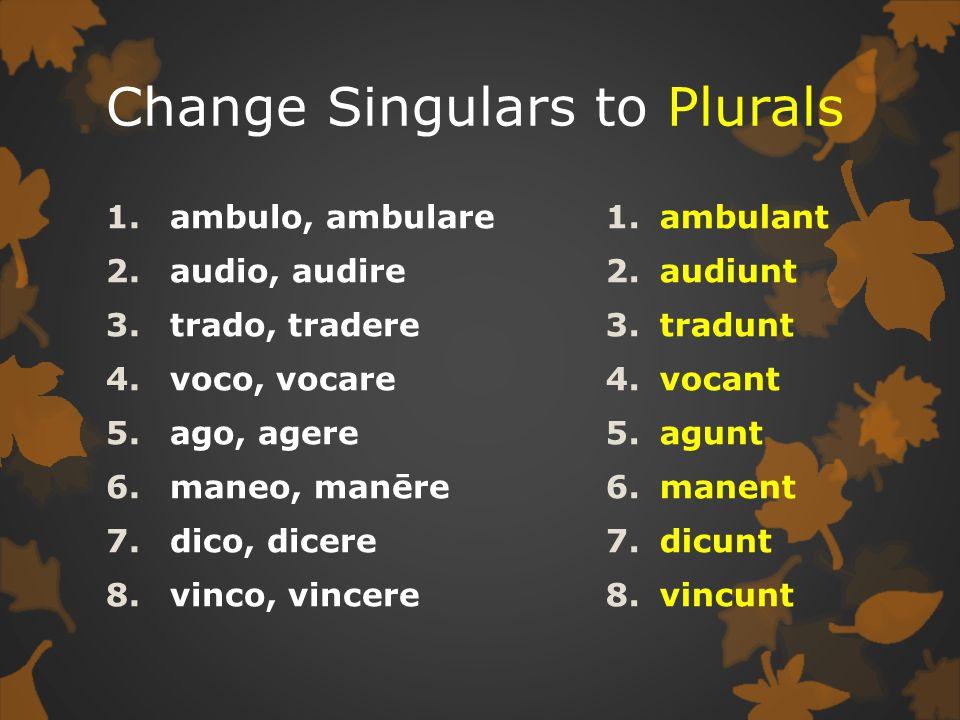 Change Singulars to Plurals