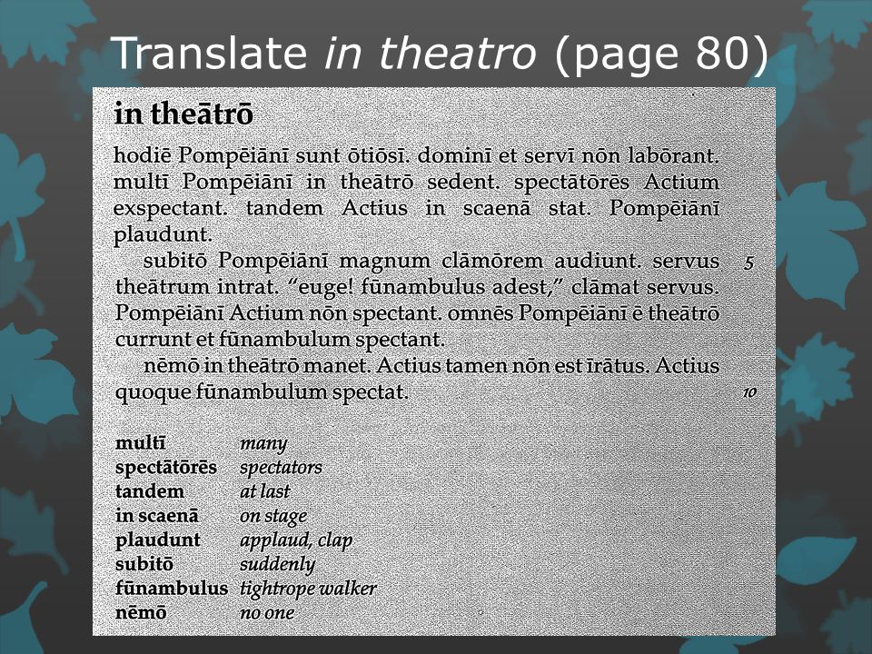 Translate in theatro (page 80)