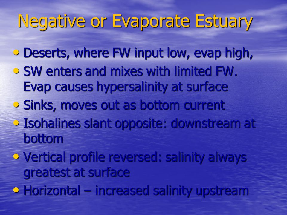 Negative or Evaporate Estuary