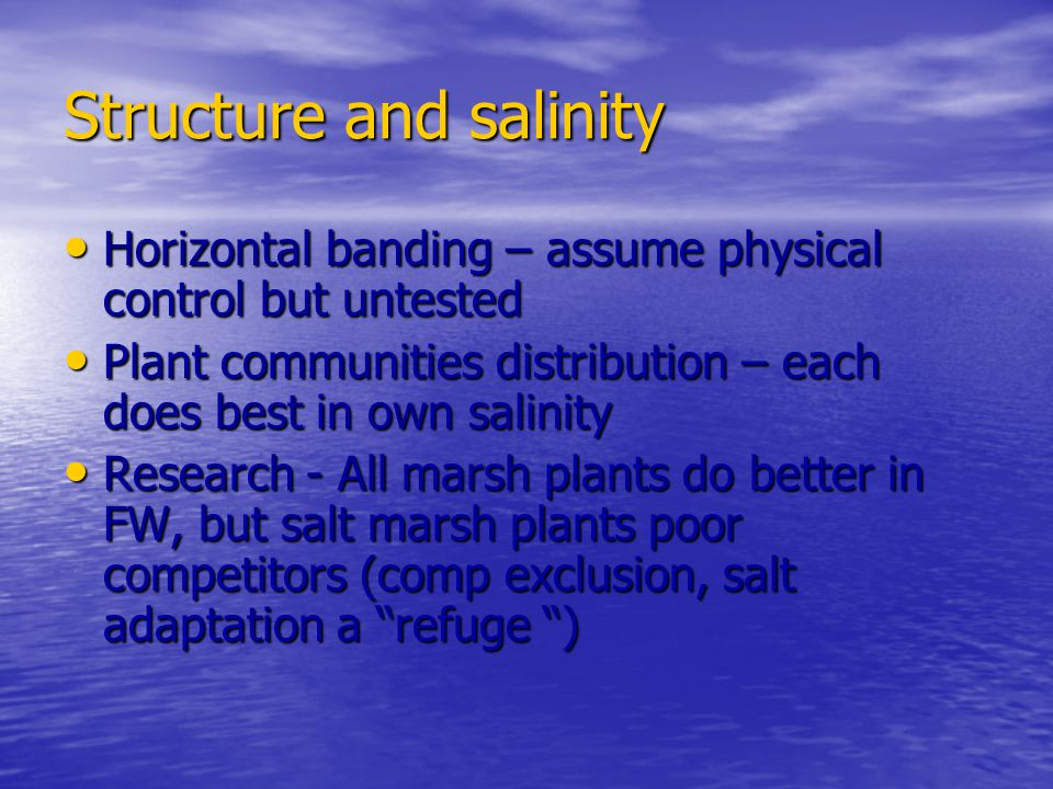 Structure and salinity