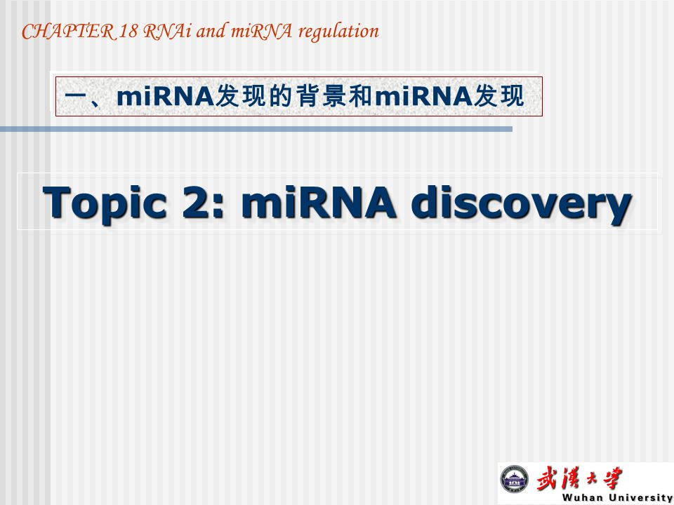 Topic 2: miRNA discovery
