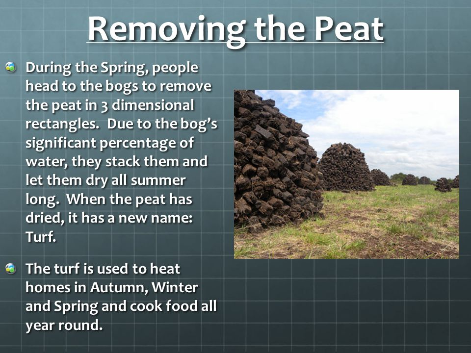 Removing the Peat