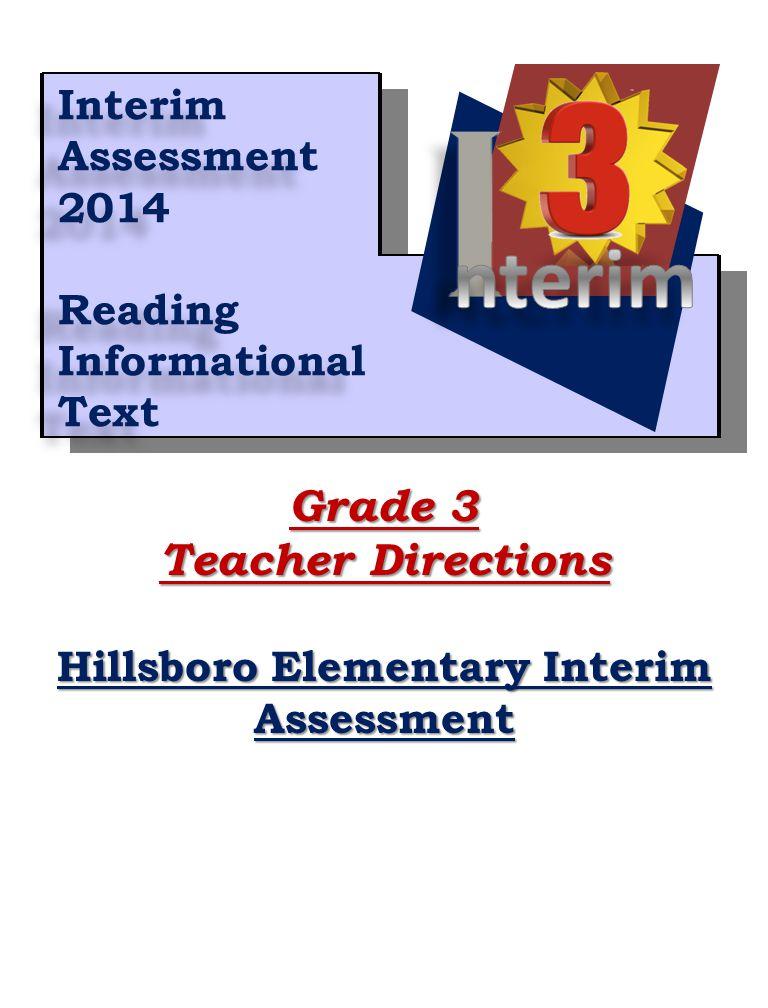Hillsboro Elementary Interim
