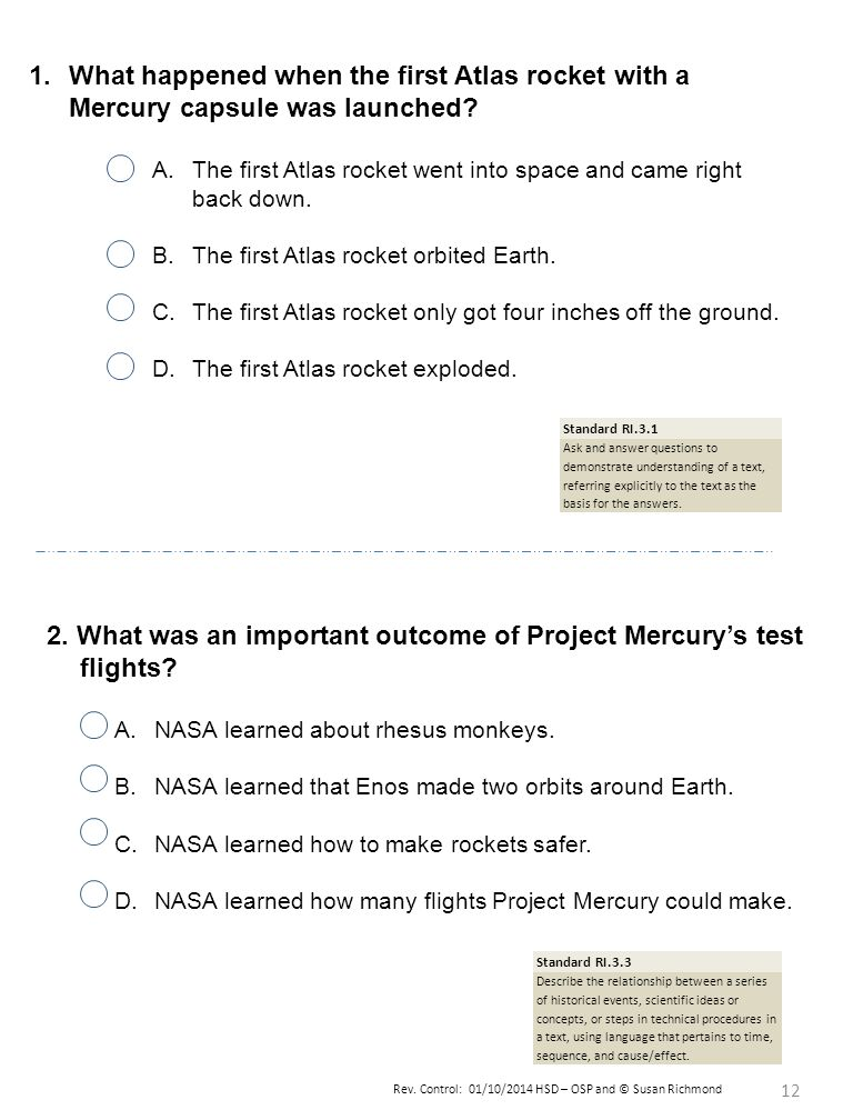 2. What was an important outcome of Project Mercury's test flights