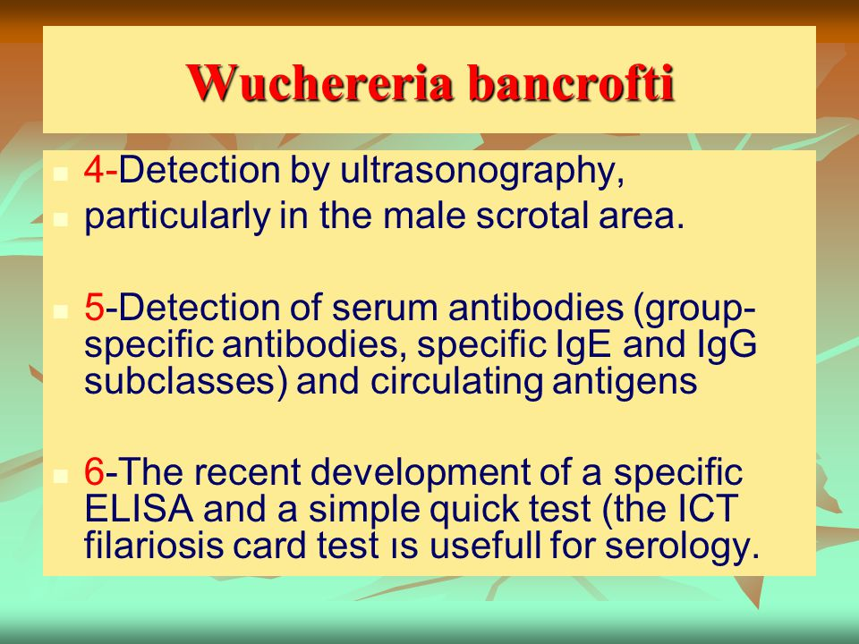 Wuchereria bancrofti 4-Detection by ultrasonography,