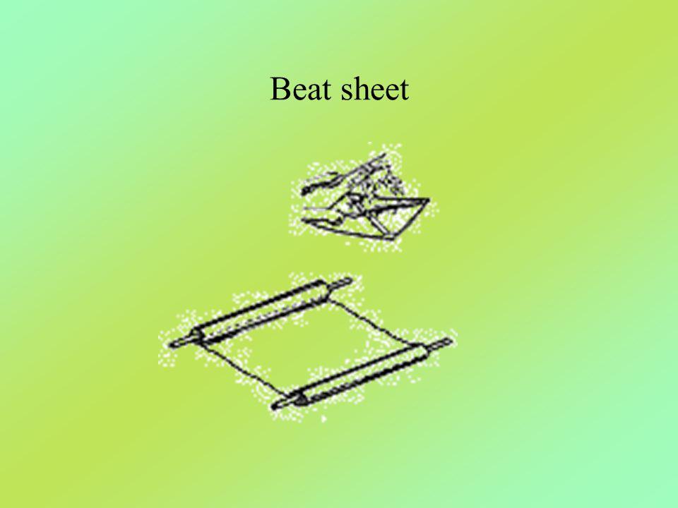 Beat sheet