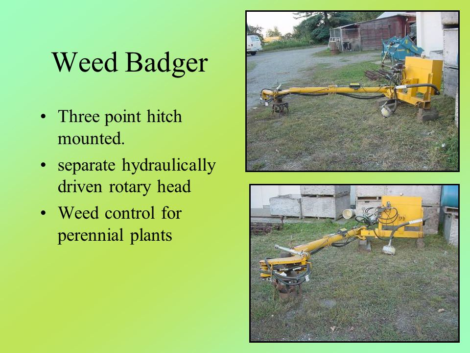 Weed Badger Three point hitch mounted.