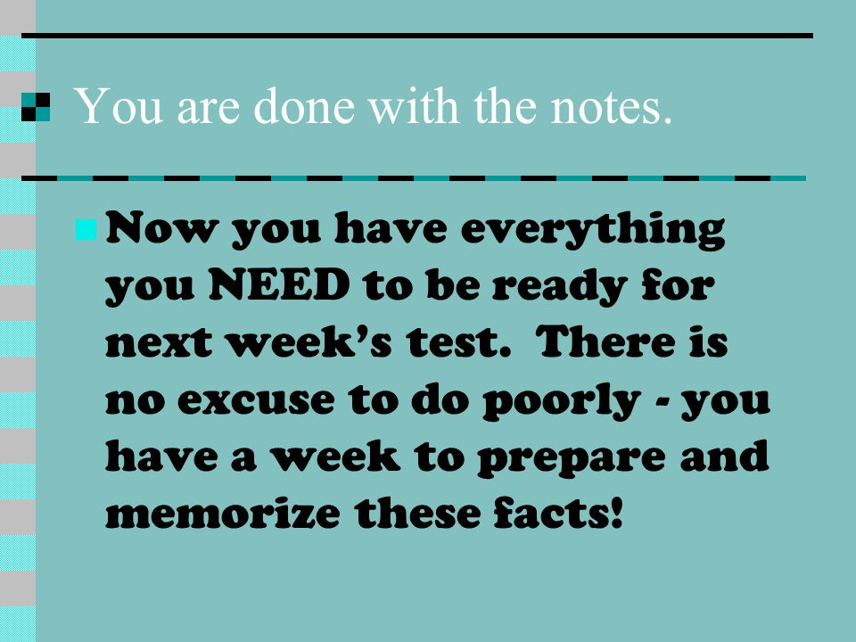 You are done with the notes.