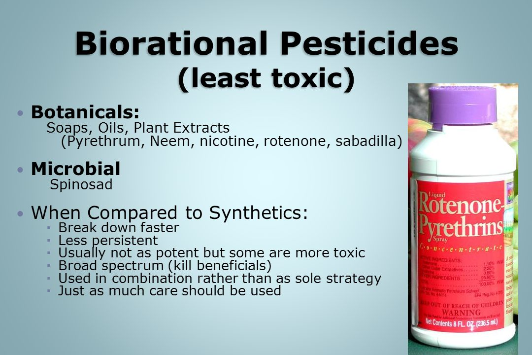 Biorational Pesticides (least toxic)