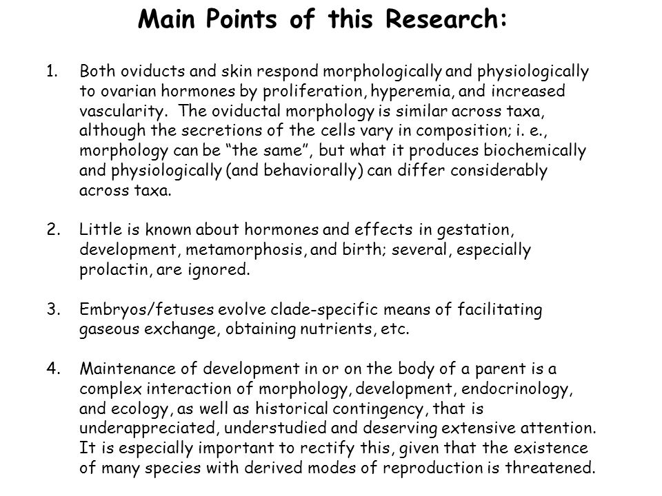 Main Points of this Research: