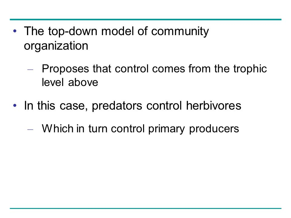 The top-down model of community organization