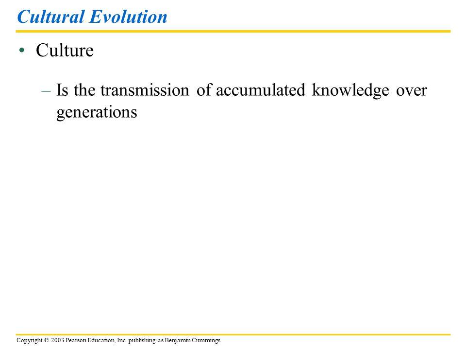 Cultural Evolution Culture